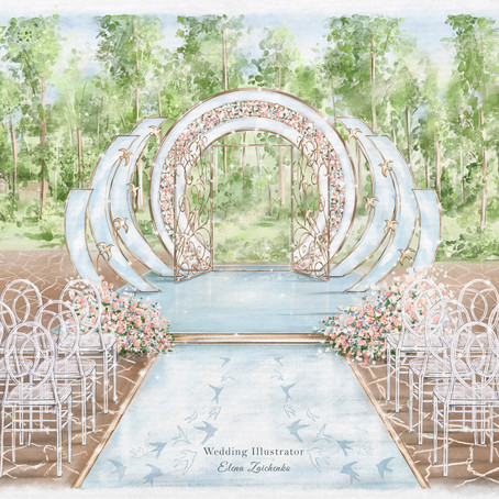 Capturing Your Wedding Details one Stroke at a Time