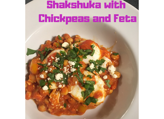 Shakshuka with Chickpeas and Feta