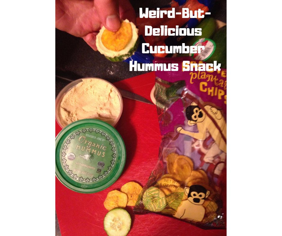 Weird-But-Delicious Cucumber Hummus Snac