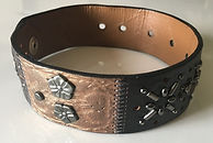 Leather Collar w/Decorative Metal Studs