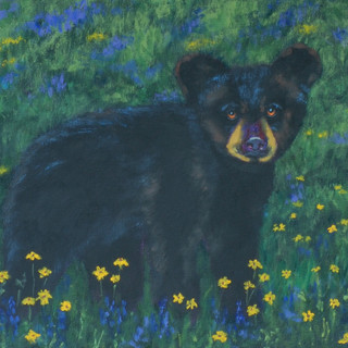Cub in Wildflowers