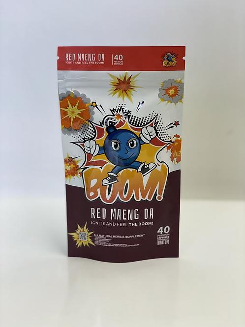 Boom red maeng da 40 capsules Kratom