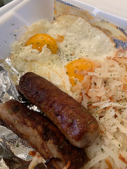Sunrise Cafe Sausage links and eggs