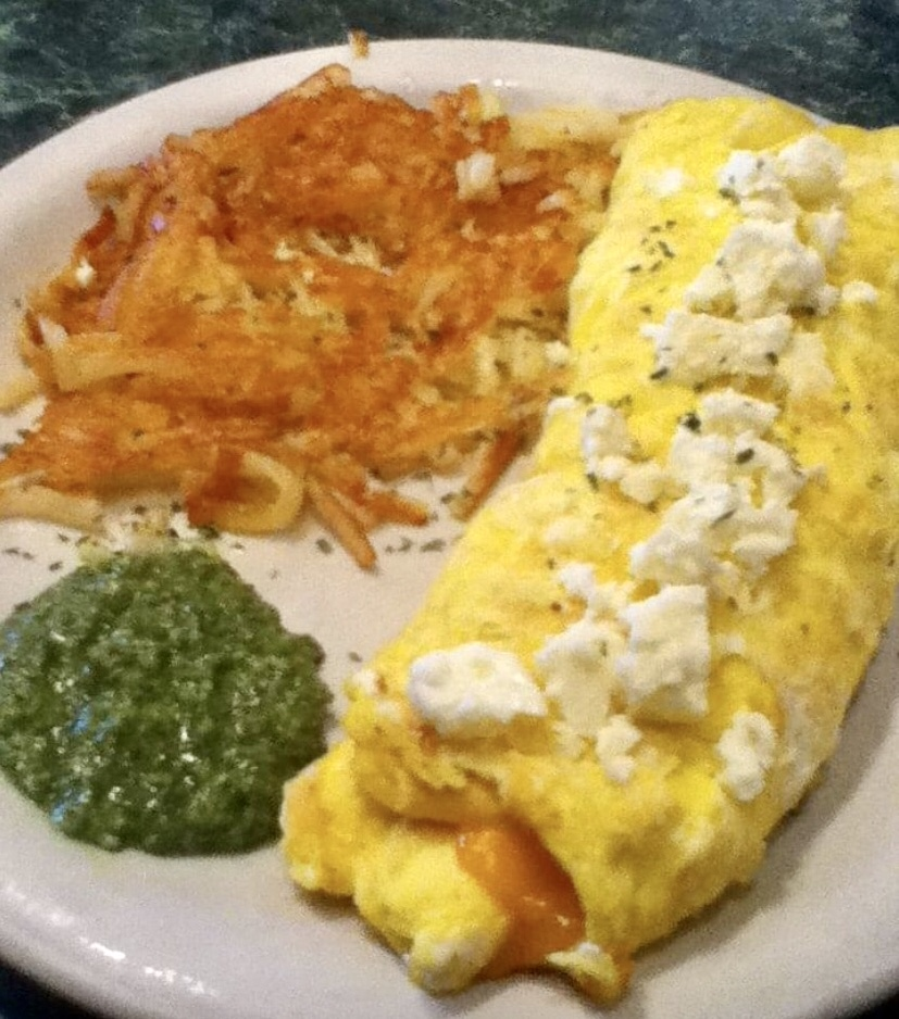Sunrise Cafe Tree Cheese Omelet