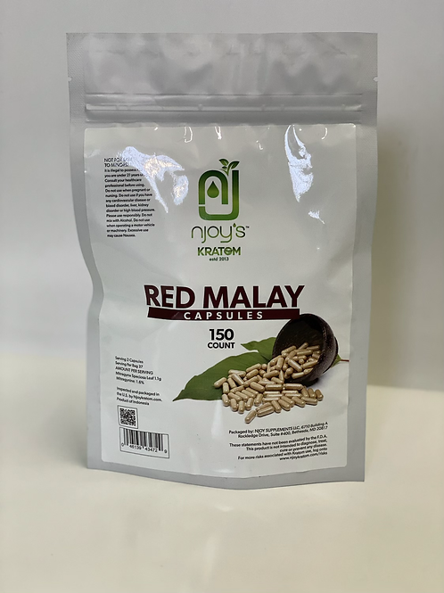 Red Malay 150 count capsules of Kratom