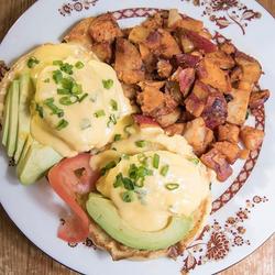 Eggs with avocado
