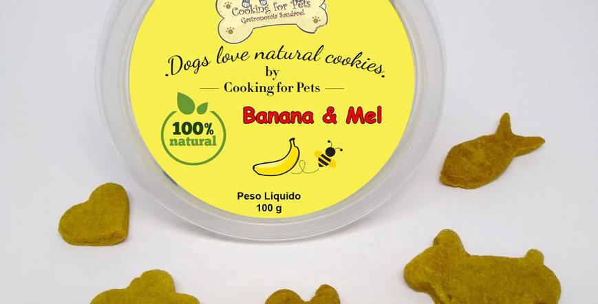 Biscoito para cães : Banana & Mel 100 g