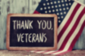 the text thank you veterans written in a