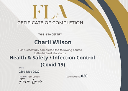 Health and Safety Infection Control Covid-19