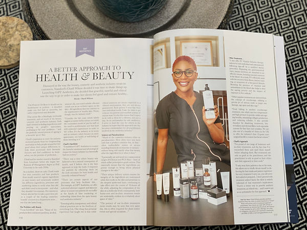 October 2020 Feature in Stamford and Rutland Pride G&T Aesthetics Stamford
