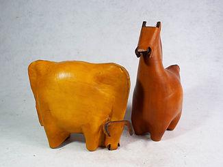 Escultura Cuero Suela Fauna Caballo Vaca