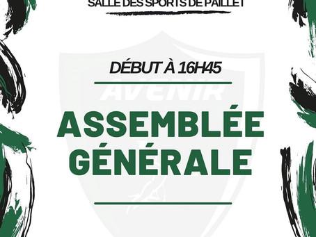 03 JUILLET 2021: Assemblée Générale