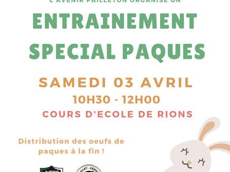 Entrainement spécial Pâque le 03 Avril 2021
