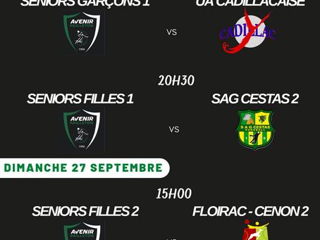 Tournois amical -13 G et F et -18 le 26 Juins 2021