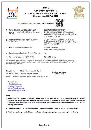Fssai License Sample | Fssai Food Licens