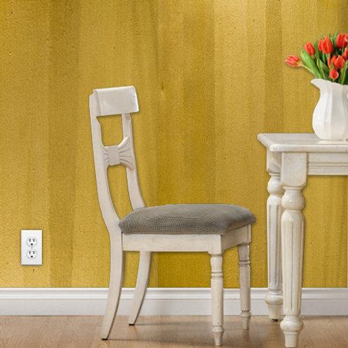 Gold Stripe Hand Painted Unique Wallpaper