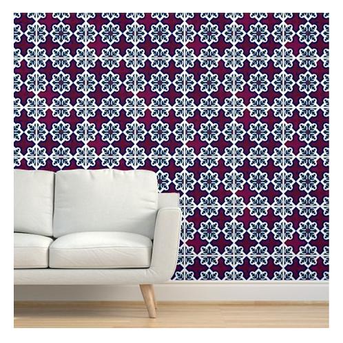 Red Moroccan Tile Wallpaper