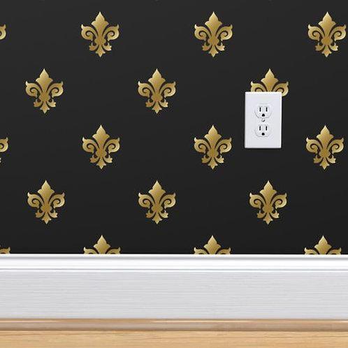 Gold Fleur de Lis Wallpaper Black Background
