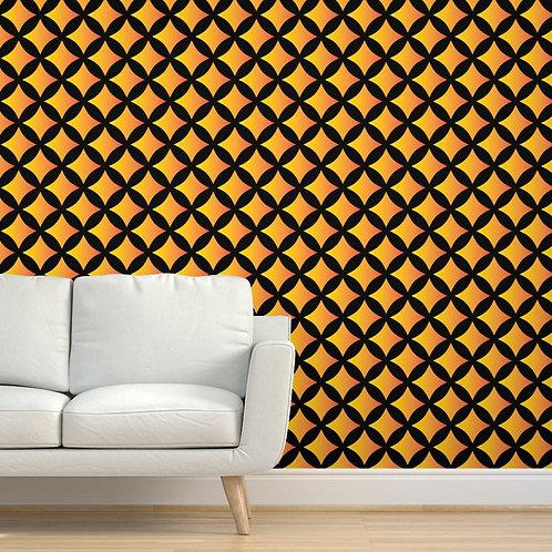 Sunset Circle Stars Wallpaper or fabric