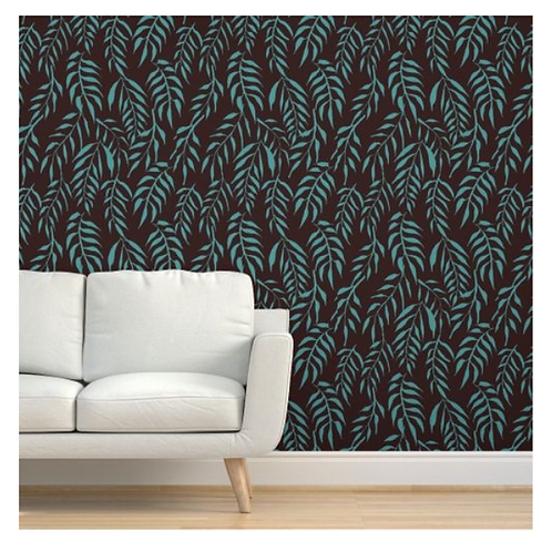 Weeping Willow on Rust Wallpaper