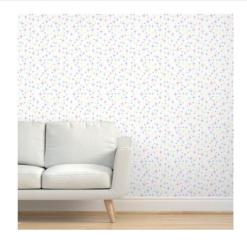 Mid Century Modern Sparkle Wallpaper