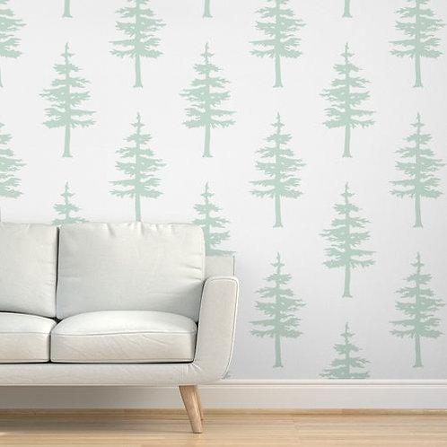 Green Trees Light Wallpaper & Home Décor