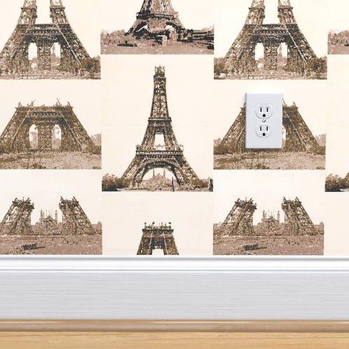 Eiffel Tower Construction Wallpaper