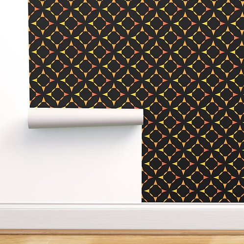 Sunset Stars Wallpaper or fabric