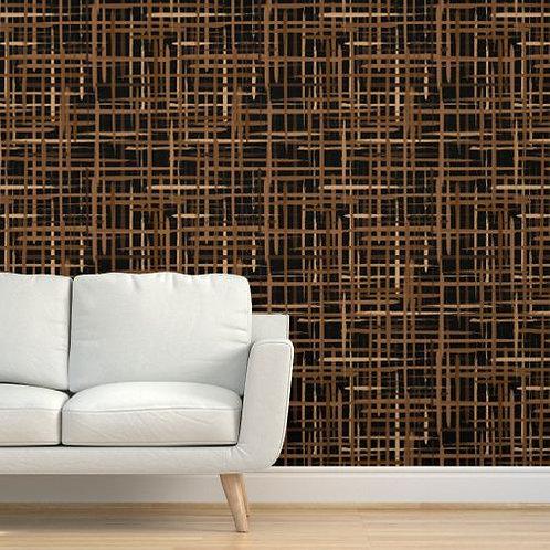 Brown Brush Strokes Wallpaper
