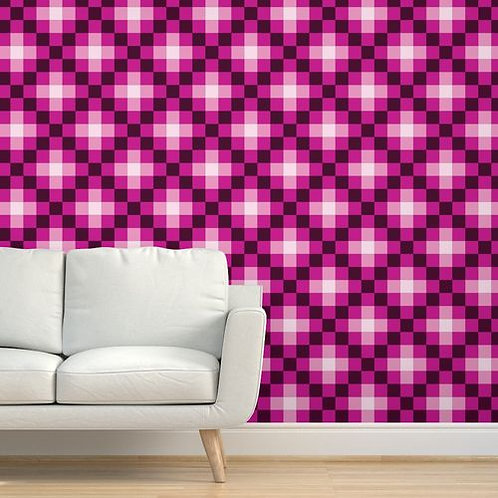 Pink Quilt Wallpaper and Home Décor