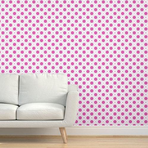 Magenta Stars Wallpaper