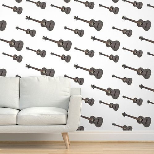 Ukulele on White or Brown background Wallpaper