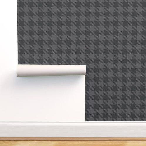 Gray Buffalo Check Wallpaper and Home Décor