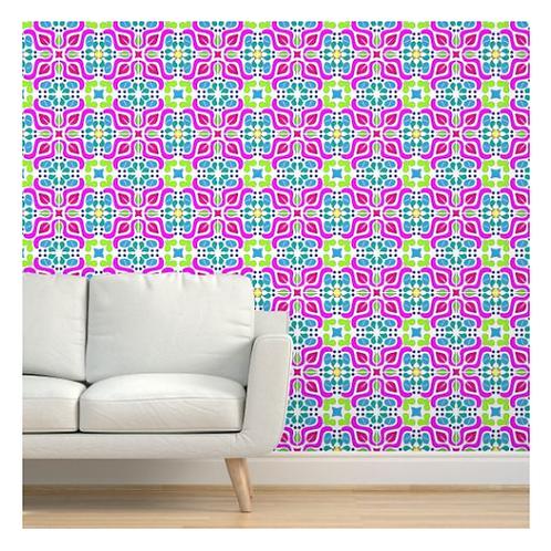 Pink Tile Wallpaper