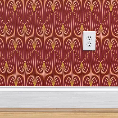 Art Deco Fan Wallpaper or fabric