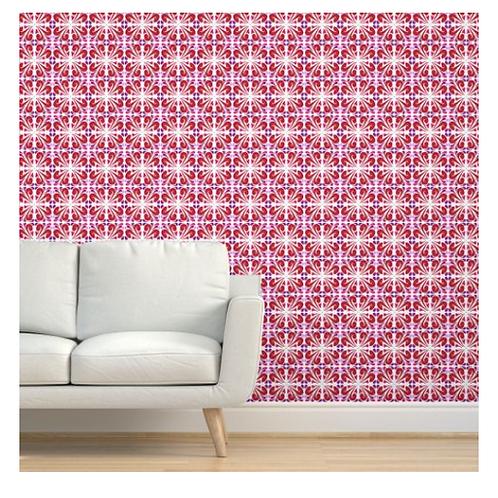 Red Tile Wallpaper