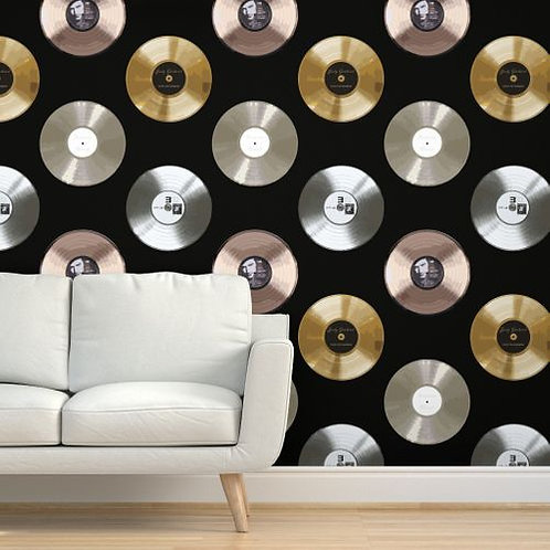 Gold Record Wallpaper and Home Décor