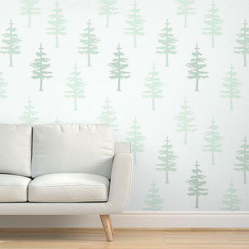 Green Trees in Fog Wallpaper & Home Décor