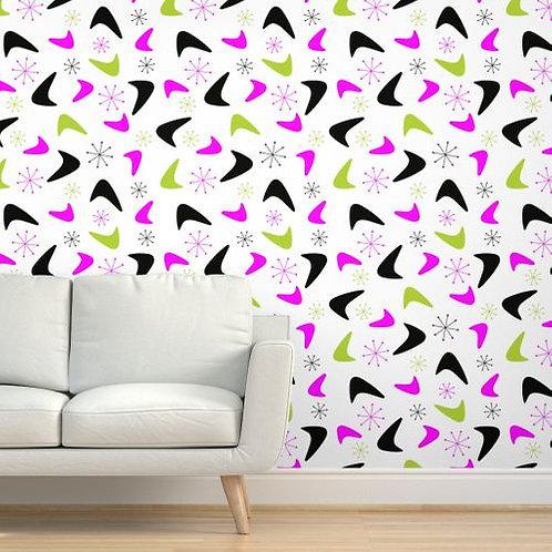 Mid Century Boomerangs Wallpaper