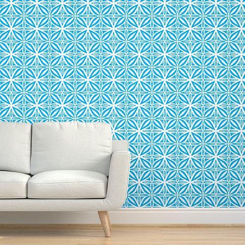 Blue Fiji Tile Wallpaper