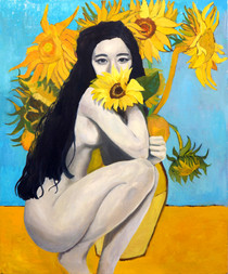 The Sunflowers In A Vase