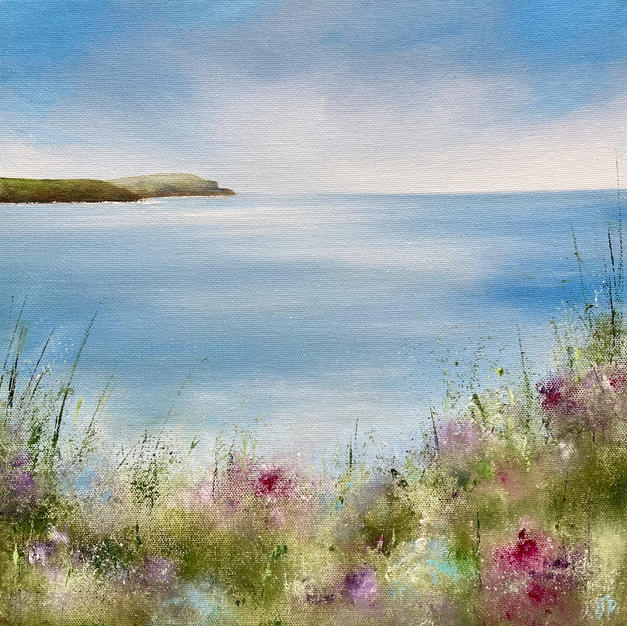 Trevone Bay on Canvas