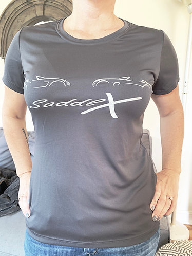 SaddlX promo shirt