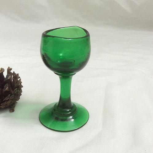 Green pedestal eyebath freeblown