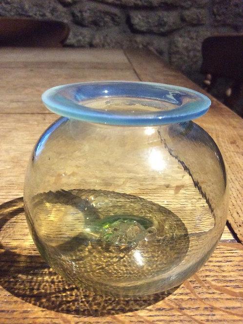 Leech jar leadglass opal edge 1800