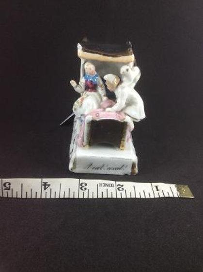 Victorian Fairing - Cat in marriage bed scene