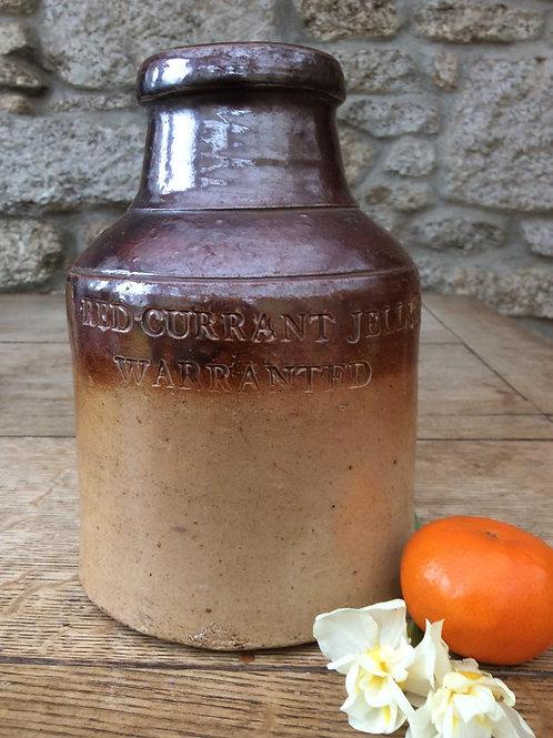 Stoneware impressed preserves 1830