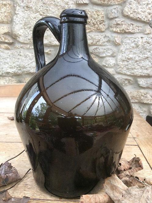 Blackglass handled freeblown cider magnum c1800