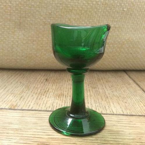 Freeblown emerald eyebath c1830
