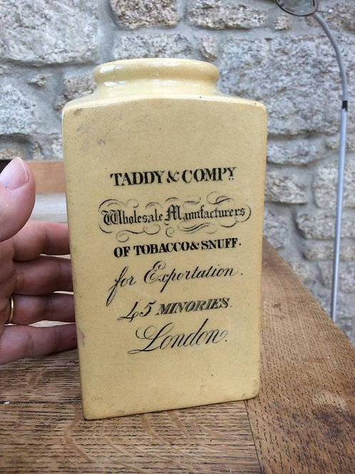 Rare LARGE Taddy & Co ceramic case snuff